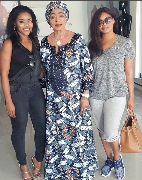 Fashion icon Lisa Folawiyo at Laura Ikeji store