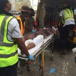 See photos from fatal motor accident at Lekki toll gate